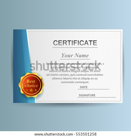 Design certificate template business education award stock photo design with certificate template business or education award vector illustration cheaphphosting Images