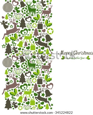 Design with Christmas Elements - stock vector