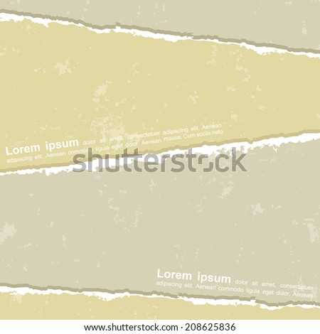 Design with different torn papers. Vector illustration. - stock vector