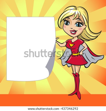 design supergirl copy space background template stock vector