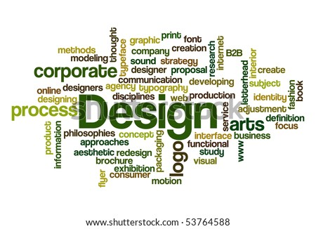 Design - Word Cloud - stock vector