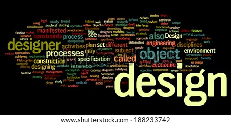 Design - wordcloud - stock vector