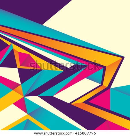 Designed abstract layout in color. Vector illustration. - stock vector