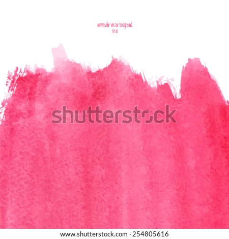 Designed abstract watercolor background, design element,  pink  watercolor square. - stock vector