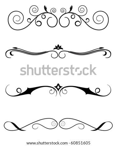 designed borders - stock vector