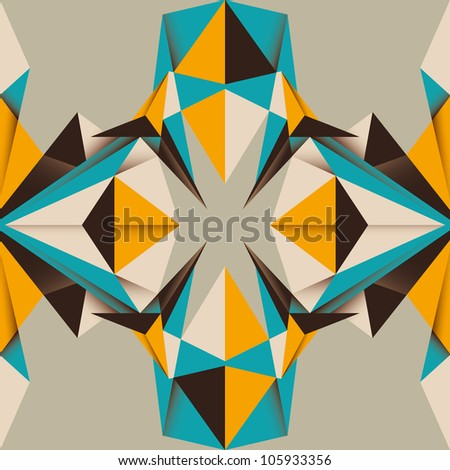 Designed colorful angular abstraction. Vector illustration. - stock vector