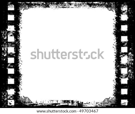 designed vector film strip sketch, may use as a background