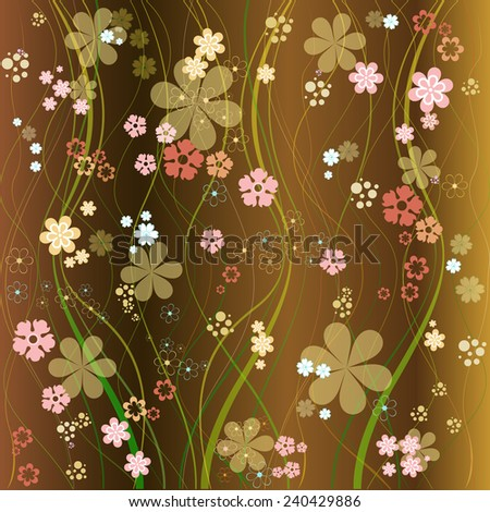Designed with the floral vector pattern background - stock vector