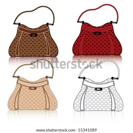 Designer Female Bags - stock vector
