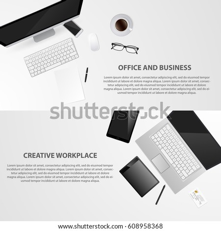 Designer office works pace tools logo stock vector 608958368 designer office works pace with tools logo design web site construction realistic workplace stopboris Gallery