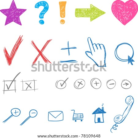 designers creative icons set for website. Vector elements - stock vector
