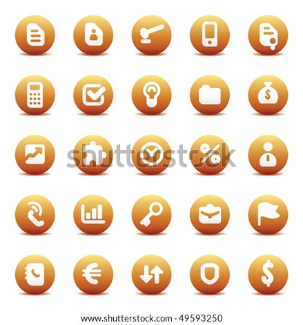 Designers icons set for business metaphors. Vector illustration. - stock vector