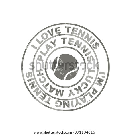 Designs Vector Colored Vintage Badge and of tennis labels.