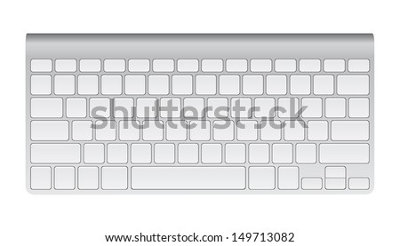 Desktop Computer Keyboard, Technology and Business Concept, Vector Illustration EPS 10. - stock vector