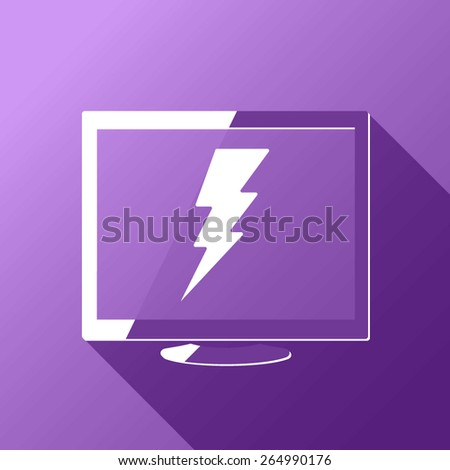 Desktop Computer Power Consumption - stock vector