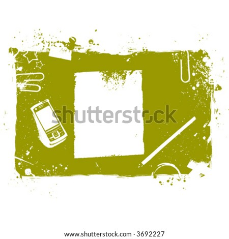 Desktop illustration - stock vector