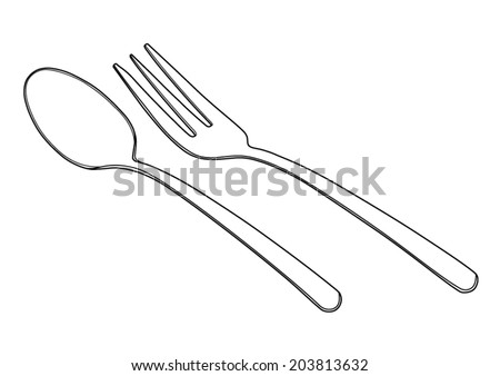 how to eat dessert with fork and spoon