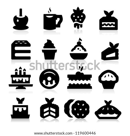 Dessert Icons - stock vector