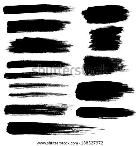 detail brush paint stroke zen collection - stock vector