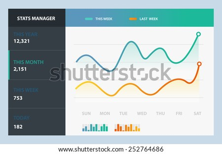 Detail info graphic vector illustration. Information Graphic Chart - stock vector