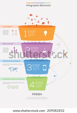Detail infographic vector illustration. - stock vector
