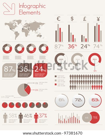 detail infographic vector illustration - stock vector