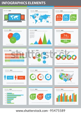 Detail infographic vector illustration presentation. World Map and Information Graphics - stock vector