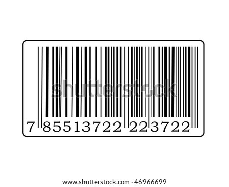 Detail of barcode label with number.