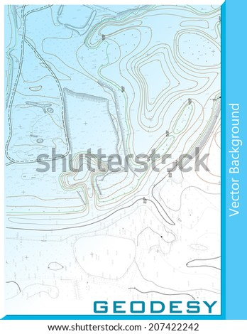 Detail of surveying, Abstract vector background for your design ideas - stock vector
