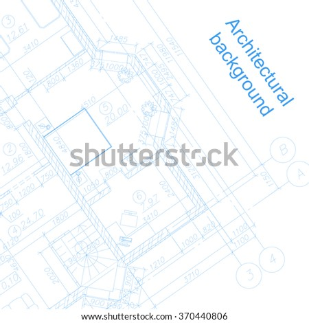 Detailed architectural plan. Vector blueprint. Abstract background.