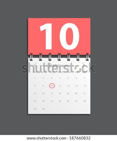 detailed beautiful calendar icon - stock vector
