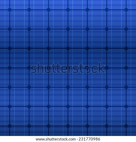 Detailed blue electric solar panel pattern. Vector illustration - stock vector