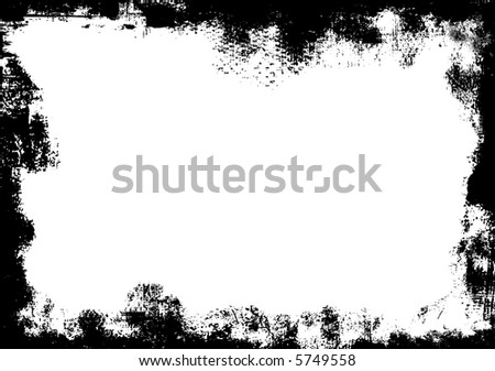 Detailed grunge border - stock vector
