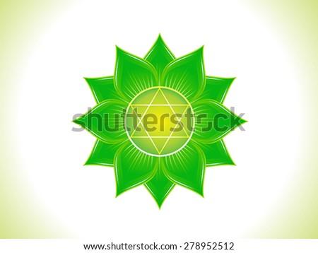 detailed heart chakra vector illustration - stock vector
