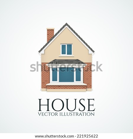 Detailed house icon. Logo.  Vector illustration - stock vector