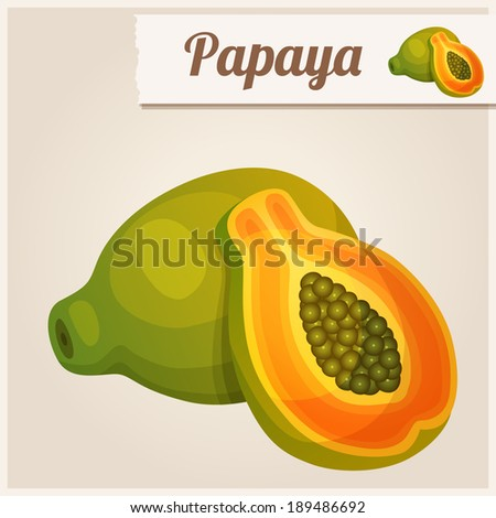 Detailed Icon. Papaya.