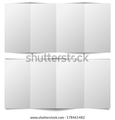 detailed illustration of a blank brochure template, eps10 vector - stock vector