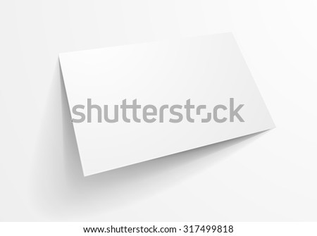 Detailed illustration blank business card template stock photo detailed illustration of a blank business card template eps10 vector flashek Choice Image
