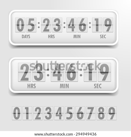 detailed illustration of a bright themed countdown timer, eps10 vector