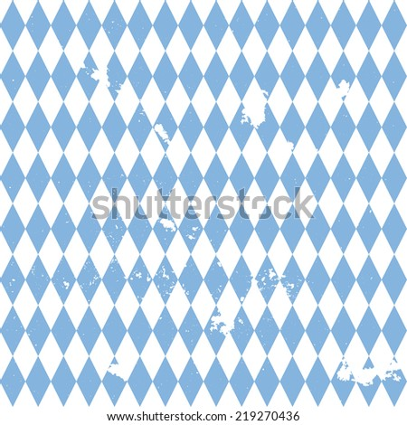 detailed illustration of a grungy bavarian background pattern, eps10 vector - stock vector