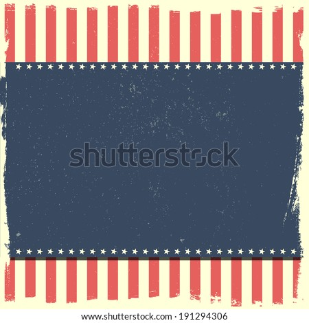 detailed illustration of a grungy patriotic background, eps 10 vector - stock vector