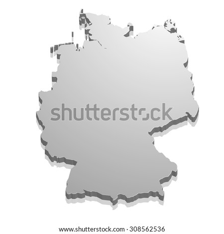 detailed illustration of a map of Germany, eps10 vector - stock vector