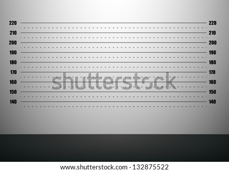 detailed illustration of a mugshot background with metric scales, eps10 vector - stock vector