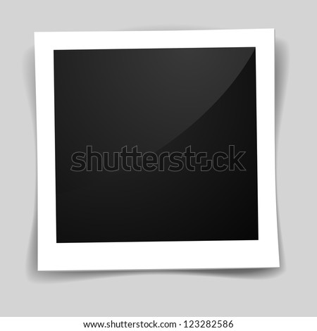 detailed illustration of a retro photo frame - stock vector
