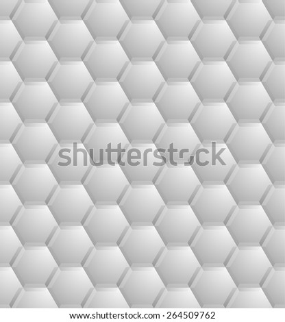 detailed illustration of a seamless abstract hexagon pattern, eps10 vector  - stock vector