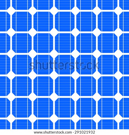 detailed illustration of a seamless photovoltaik solar cell pattern, eps10 vector - stock vector