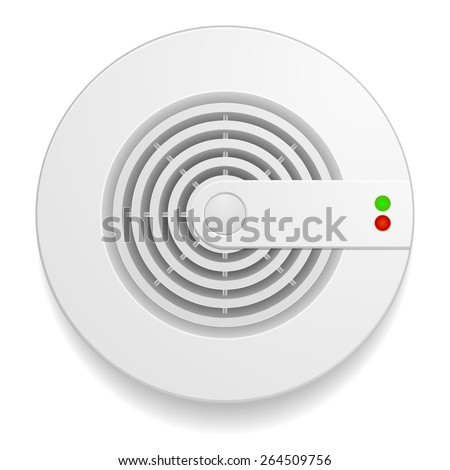 detailed illustration of a smoke detector, eps10 vector  - stock vector