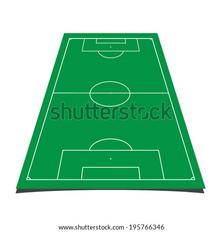 detailed illustration of a soccer field with front perspective