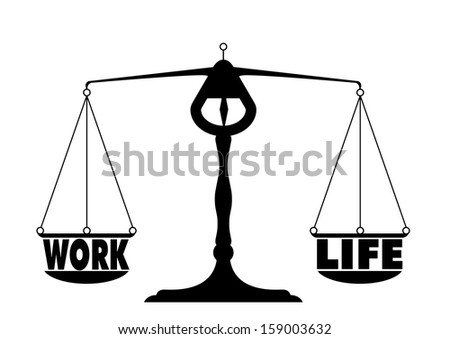 detailed illustration of a work life balance - stock vector