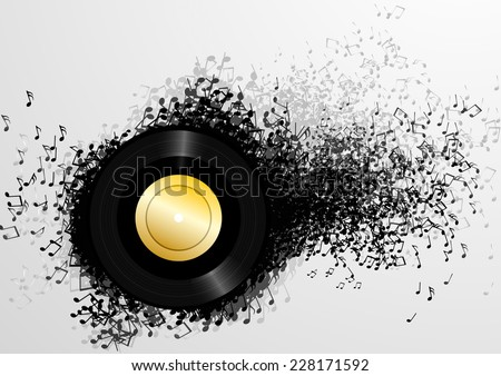 detailed illustration of an abstract music background, eps10 vector - stock vector